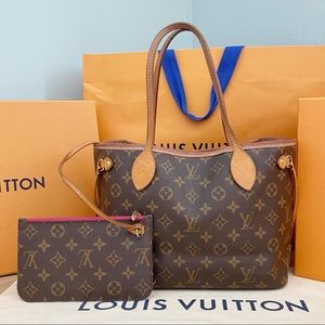 ✨NEVERFULL W/ POUCH✨ Auth PM Louis Vuitton Bag!